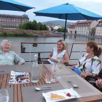 Relaxing on deck in Saverne