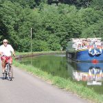 Cycling on the towpath
