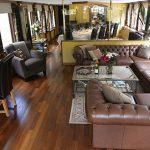 Panache's beautiful salon with picture windows