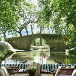 Emma cruising the beautiful Canal du Midi
