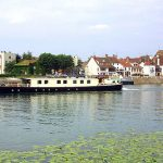 Beautiful idyllic moorings in Burgundy
