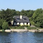 Pretty little homes on Lough Ree