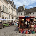 The colourful market in Beaune!