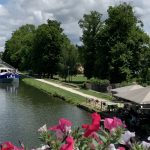 Beautiful countryside along the canal