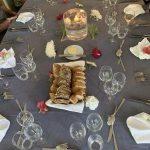 Beautiful table settings on board Finesse