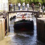 Emma cruising the beautiful Canal du MidiOLYMPUS DIGITAL CAMERA