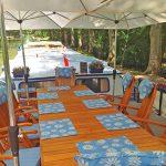 Dining on deck