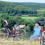 French Bicycles Picnic Cliff Top River