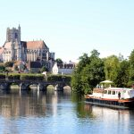 Hotel Barge Luciole river yonne Auxerre French city cruise vacation