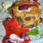 Bread and butter pudding berries