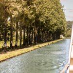 Cruising peaceful waterways